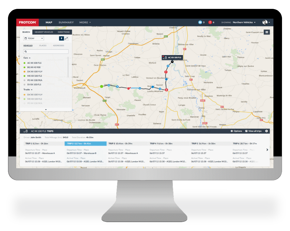 Reduce costs and improve the productivity and security of your fleet with Frotcom.