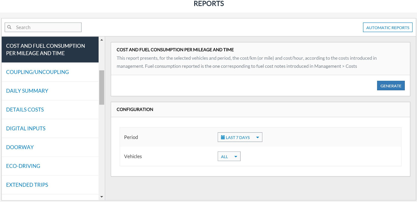 Fleet Management Reports Frotcom