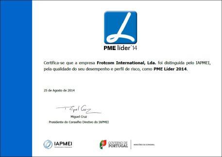 Blog - Frotcom International receives SME Excellence 2014 award