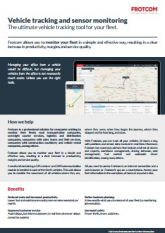 Vehicle tracking and sensor monitoring