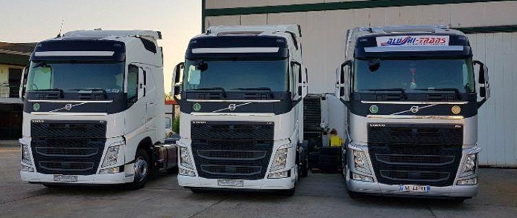 Alushi-Trans fleet of truck
