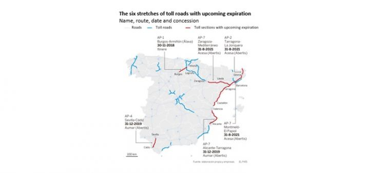 Blog - The six treches of toll roads with upcoming expiration - Spain