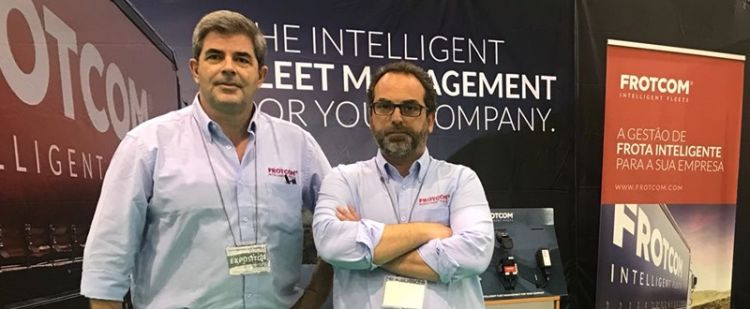 """Frotcom system exhibited at the """"National Transport Industry Trade Show"""""""