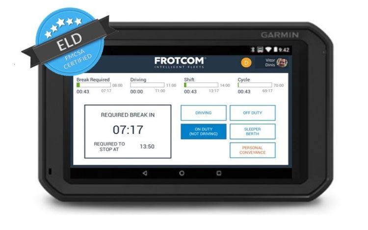 Garmin Fleet 700 series - Frotcom ELD FMCSA Certified