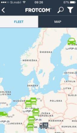 P2P transport - Frotcom Smartphone app