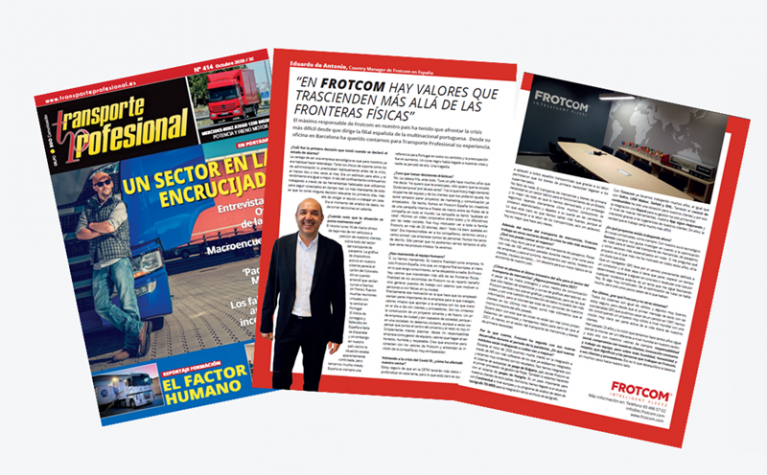 Frotcom Spain's Country Manager speaks to Transporte Profesional