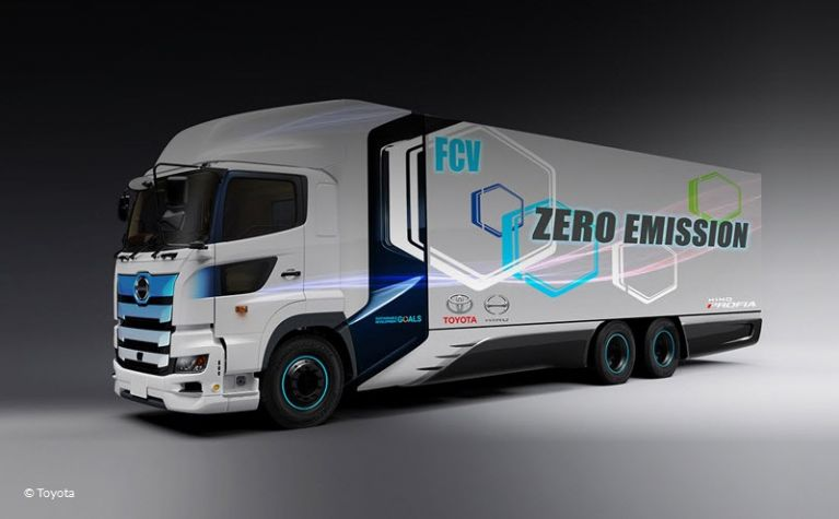 Major automakers move towards hydrogen truck production -  Frotcom