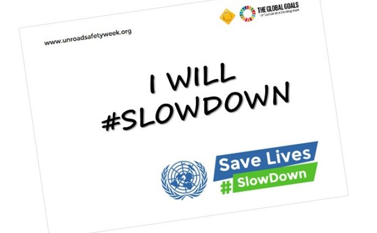 Will you pledge to #SlowDown and save lives?