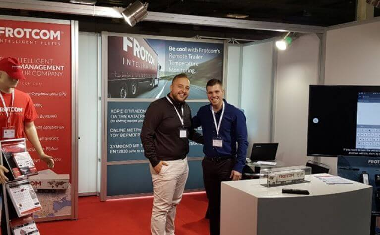 Frotcom distinctive features for frozen food transport presented to companies in Greece