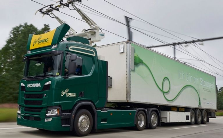Germany tests its first eHighway for hybrid trucks